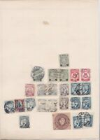 mexico stamps on 2 album page ref 13469