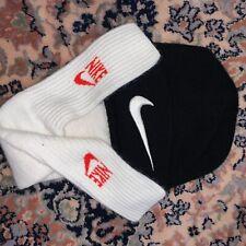 Vintage Nike White Socks And big Swoosh Beanie