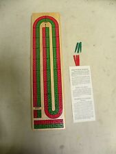 Vintage Wood Wooden Cribbage Game Board (F3)