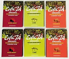 6 PK CHICZA 100% ORGANIC CHEWING GUM FROM THE MAYAN RAINFOREST 3 FLAVOR 30G PACK