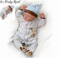 Ashton Drake Sweet Dreams Danny, Weighted Newborn Poseable Baby Doll