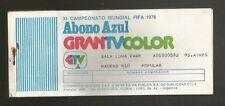 Argentina Soccer World Cup 1978 Luna Park GranTV x16 Tickets USED