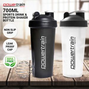 2x 700ml Protein Drink Water Bottle Shaker BPA Blender Workout Gym Running Sport