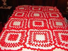 NEW AFGHAN ~ Handmade Handcrafted Crochet Throw Blanket Afghan ~ Ruffled Granny