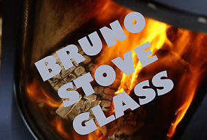 BRUNO STOVE GLASS 294 x 203 HIGH DEFINITION - SCHOTT ROBAX - MADE TO MEASURE