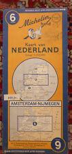 Ancienne carte Michelin Amsterdam-Nijmegen N° 6, 1948