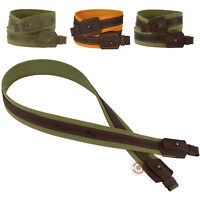 Shotgun Rifle Sling Strap Canvas Leather Stitched Hunting Shooting