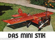 "Model Airplane Plans (RC): Das Mini Stik 36""ws 4-ch for .19 engines"