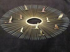 "MCM Metal Starburst Flying Geese Metal Wall Art Sculpture 38""W Jere era 10 geese"