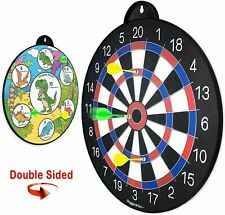 GIGGLE N GO Reversible Magnetic Dart Board for Kids Family Safe FUN Math TOY