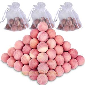 50 Pack Aromatic Cedar Blocks Clothes Storage 100% Natural Wood Closet Balls
