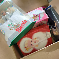 Vintage Lot Of Mixed Holiday Collector Barbie Fashion Dolls And Barbie Suitcase
