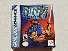 GB Advance Ninja Five O Ninja Cop, GBA Custom Art case only, no game included