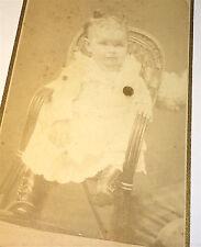 Antique Western American Child  Black Mourning Pin? Hidden Mom Arm! KS CDV Photo