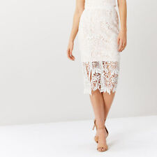Coast Melva Lace Skirt Ivory Size UK 16 rrp £89 SA172 BB 03