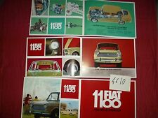 N°4610 / FIAT :  catalogue berline 1100 texte français      1966