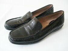 HUSH PUPPIES WAVEREFLEX  BLACK PATENT GENUINE LEATHER LOAFER SHOE US 7M EUR 38