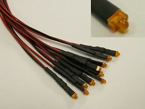 W28 - 5 Piece LED 1,8mm Orange with Cable For 12-19V Ready Wired Mini Leds