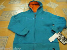 Boys kid youth surf 5 Hurley hoodie jacket coat sweat shirt Atlantic Cyan Heat