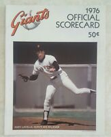 1976 SAN FRANCISCO GIANTS SCOREBOOK PROGRAM UNSCORED vs ST LOUIS CARDINALS