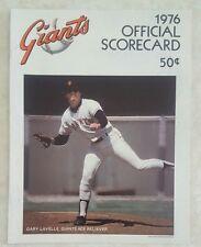 1976 SAN FRANCISCO GIANTS SCOREBOOK PROGRAM UNSCORED vs ST LOUIS CARDINALS