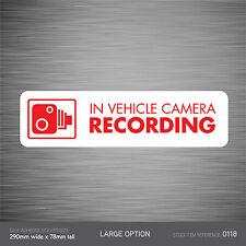 SKU118 - In Vehicle Camera Recording Car Sign Sticker - CCTV - Go Pro - Dashcam