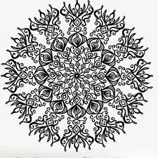 Indian Floral Design Sun Flower Mandala Wall Sticker Decal Yoga Symbol Mural #08