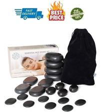 Hot Stones Massage Premium Set 20 pcs Total Basalt Energy Rocks For Spa Professi