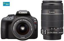 Canon EOS Kiss X7(Rebel SL1/EOS 100D)EF-S18-55mm&EF-S55-250mm Lens Kit Japan New
