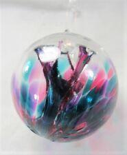 Gazing Ball 3 inch hand blown glass ornament (J)
