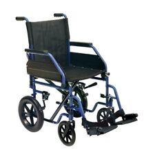 Carrozzina disabili da transito Sedia a rotelle pieghevole braccioli ribaltabili