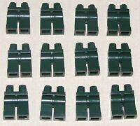 LEGO LOT OF 12 NEW DARK GREEN MINIFIGURE LEGS PANTS PIECES
