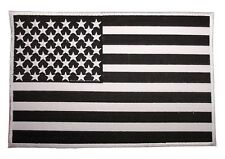 Big Large USA American Flag Black White Embroidered Back Patch Motorcycle Biker