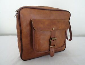 Vintage Leather Toiletry Bag Shaving Kit Organizer Grooming Travel Washbag Pouch