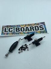 LC BOARDS Fingerboard Trucks 32mm Spaced Black Brand New FREE Sticker