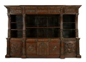 1600s RARE Carved Bookcase EARL OF MANSFIELD Provenance FDR American Ambassador