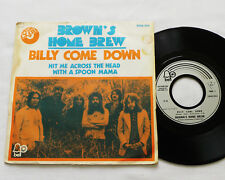 """BROWN'S HOME BREW Billy come down FRENCH 7"""" w/PS BELL 2008 054 (1972) folk rock"""