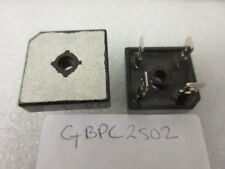 Bridge Rectifier Diode, Single, 200 V, 25 A, Module, 1.1 V, 4 Pins GBPC2502 .