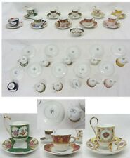 Lotto tazzine mignon caffè porcellana vintage Venezia gold collection porcellain