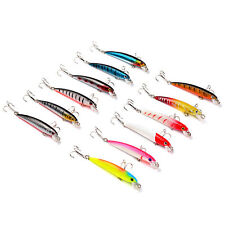 8pcs Sea Fishing Popper Minnow Frashwater Fish Bass Lure Hook Baits 9cm/18g