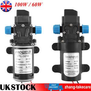 12V 60W 100W High Pressure Diaphragm Self Priming Water Pump Caravan Wash 8L/Min