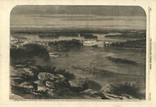 The city & river of Ottawa, from the Barrack Hill. New parliament buildings 1860