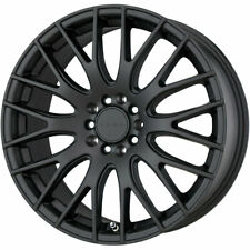 "SET (4) 17X7.5 +40 5X120 DRAG DR69 BLACK WHEELS/RIMS 17""INCH 20470"