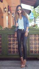 H&M Faux Leather Trousers Leggings U.K. Size 6 BNWT Gorgeous 😍 Dark Brown