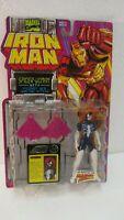 Marvel Comics Iron Man Spider Woman Titanium With Retractable Blade Toy Biz 1995