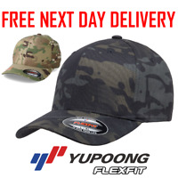 OFFICIAL FLEXFIT MULTICAM BASEBALL CAP STRETCHABLE FULL BACK CAMOUFLAGE HAT