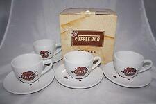 Coffee Spot 8-tlg. Kaffee Set Könitz Porzellan 4 Tassen + 4 Untertassen + Karton