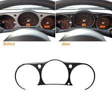 Carbon Fiber Interior Instrument Cluster Panel Cover Fit For Nissan 350Z 2006-09