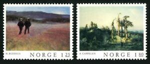 Norway 704-705,MNH.Michel 753-754. Classical paintings 1977.Landscapes.