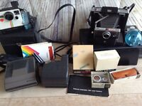 Large Mixed Lot Vintage Polaroid Camera Cameras Automatic